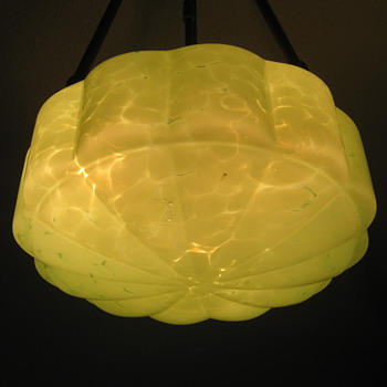 Czechoslovakia Mottled glass Shade Art Deco Ruckl or?