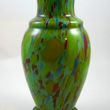 Czech Spatter Glass vase, ca. 1930s - Art Glass