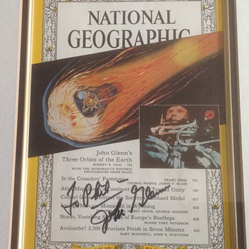 John Glenn Autographed National Geographic