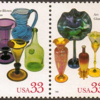 "1999 - ""American Glass"" Postage Stamps (US)"