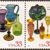"""1999 - """"American Glass"""" Postage Stamps (US)"""