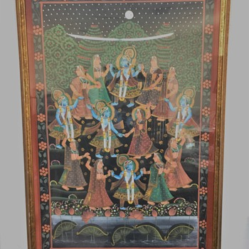 Is this some sort of Hindu Wedding/Celebration  painting????? - Visual Art