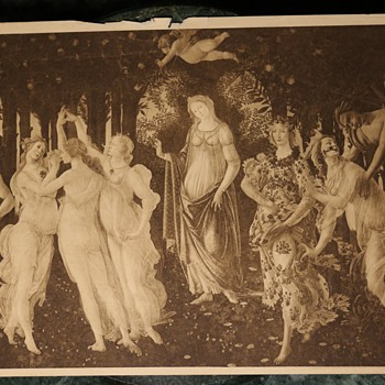 Botticelli - Primavera - 19th Century Sepia Print - Visual Art