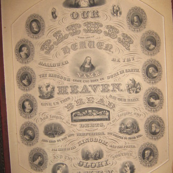ANTIQUE THE LORDS PRAYER - Arts and Crafts
