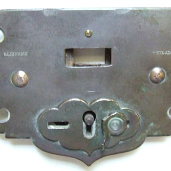 Metal Detector Find~Brass Trunk Lock Mechanism~1836-1869