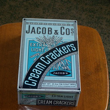 1920's Jacob & Company Extra Light Cream Cracker Tin - Advertising