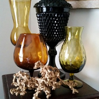 Cameo Black Chalice & Cover ~Tiara/Indiana Glass Company