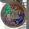 Silver, enamel & Ivory Carnet de Bal Pendant by G.A. Scheid, Vienna c. 1900