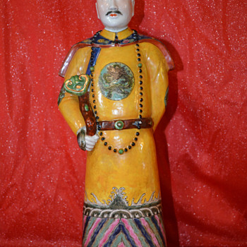 Chinese Porcelain Statue  - Asian