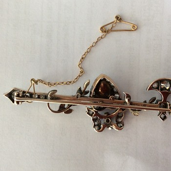 Diamond and pearl brooch and kilt pin - Fine Jewelry