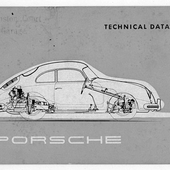 1955 - Porsche Technical Data Brochure - Paper