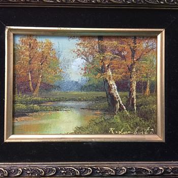 """R. Lambert """"Autumn Splendor"""" painting - Visual Art"""