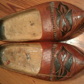 wooden clogs picked at an antique store