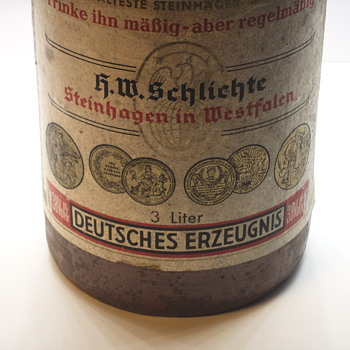 "Steinhäger German Gin,Earthenware Bottle""H.W.Schlichte""1900-10"