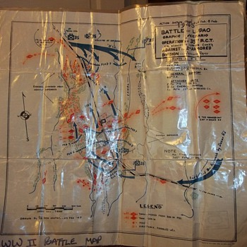 WORLD WAR 2 BATTLE OF LUPAO MAP - Paper