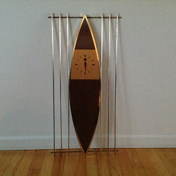 Mid Century Modern 8 Day Clock Haddon