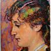 Hans Christiansen Portrait of Wife, Claire Christiansen