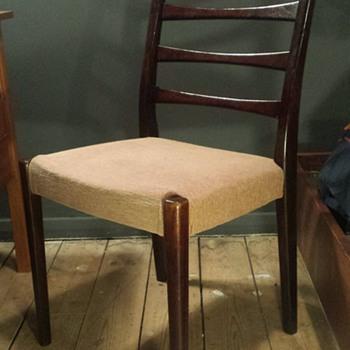 Svegards Markaryd rosewood ladder back dining chair