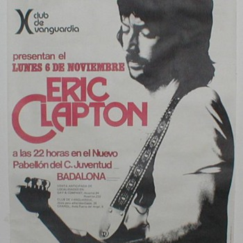 1977 Eric Clapton Poster - Spain