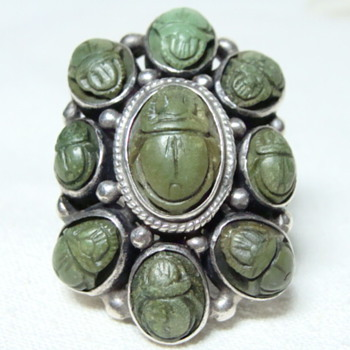 Arts and Crafts Scarab Ring - Fine Jewelry