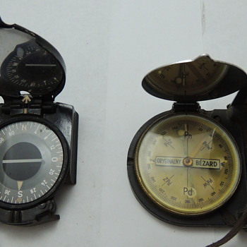 2 WWII Marching Compasses - Military and Wartime