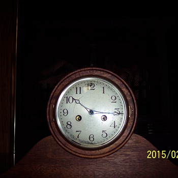 (My antque Waterbury Mantal Clock)