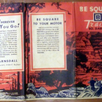 "Vintage ""Be Square"" Road Map  - Petroliana"