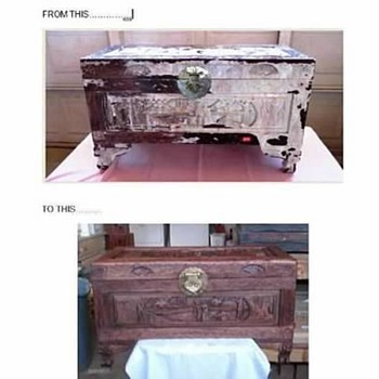 Carved Asian Trunk - Furniture
