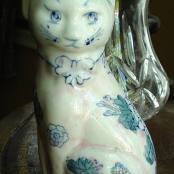 MY BEAUTIFUL PORCELAIN FLOWERS CAT - Art Pottery