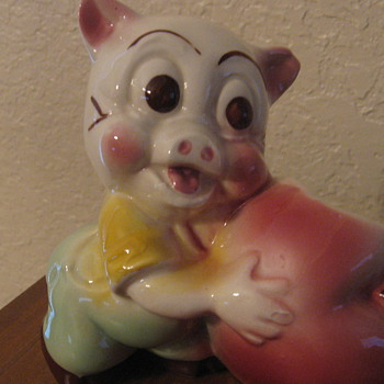 Pig with an apple - Animals