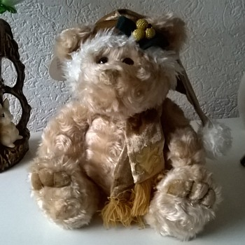 Rare Chosun International Plush Christmas Bear Salesman's Sample  - Dolls