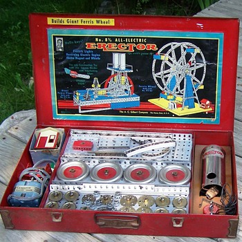 Late 1940s  A.C. Gilbert 8 1/2  Erector Set - Toys