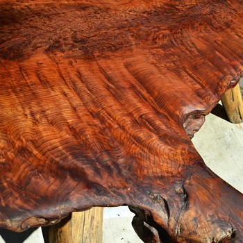 Redwood Burl Table I Refinished this Week - Furniture