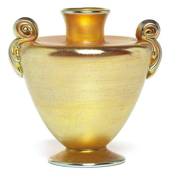 L. C. Tiffany Gold Urn Vase
