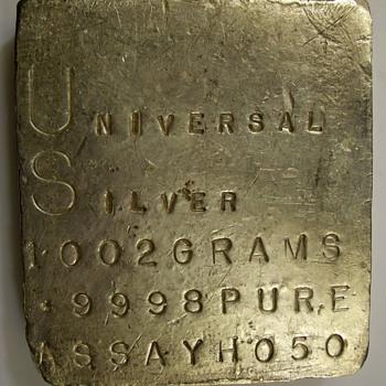 Universal Silver Kilo Slab 1002 Grams .9998 fine - Sterling Silver
