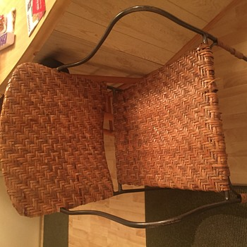 Rattan or wicker bar stool