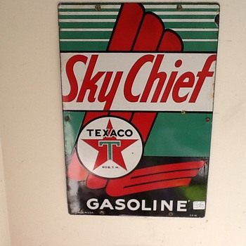 Texaco Sky Chief pump plate 1946