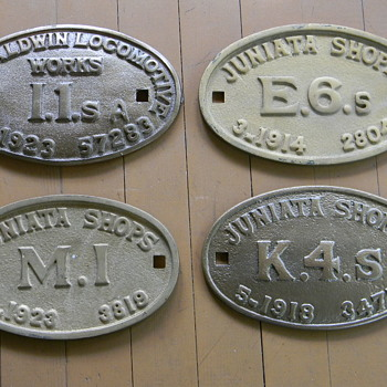 Railroad Locomotive Builder's Plates