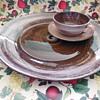 "California Pottery Santa Anita Ware ""Vreni"" Large Tea Cup Saucer and Charger"