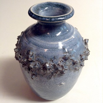 Glit HF Iceland Lava Ceramic Cabinet Vase - Art Pottery
