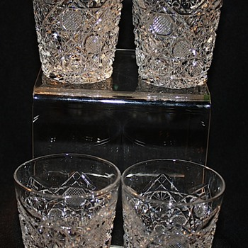 American Brilliant Cut Glass Whiskey/Shot Glasses  - Glassware