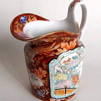 Excellent Quality Japanese Antique Fukagawa Porcelain Pitcher - Asian