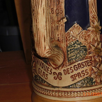 early 1800th century german beer stein