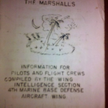 WWII USMC Marshall Islands Pilots Bail out guide book/map - Military and Wartime