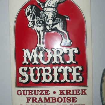 LARGE MORT SUBITE BEER SIGN - Breweriana