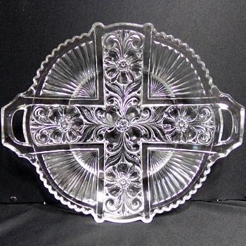 Pattern Glass Platter  - Glassware
