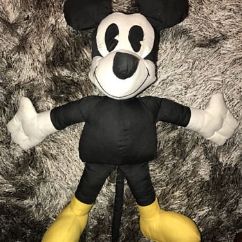 "Vintage Mickey Mouse Pie Eyes 21"" Doll"