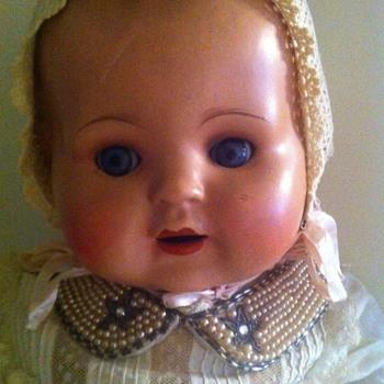 hard plastic dolls , one with cloth body - Dolls