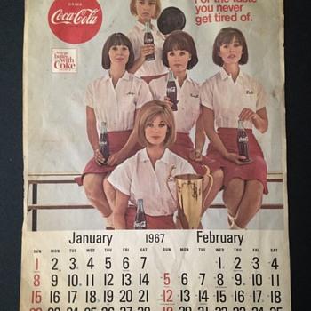1967 Coca-Cola Calendar
