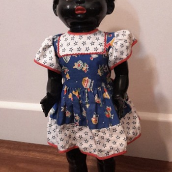 1950s 22 inch black Pedigree hard plastic doll